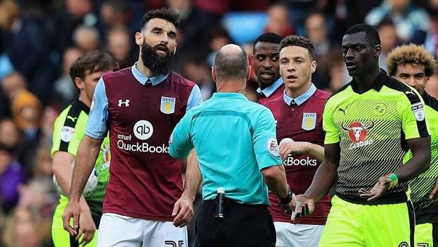 Mile Jedinak's all-action performance couldn't prevent Aston Villa from suffering a 3-1 loss to Reading.