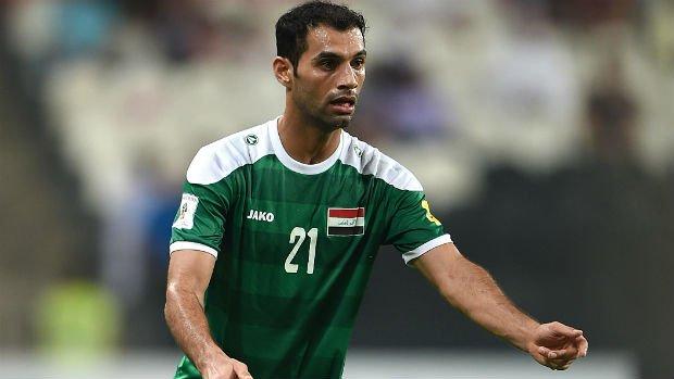 Iraq midfielder Saad Abdul-Amir.