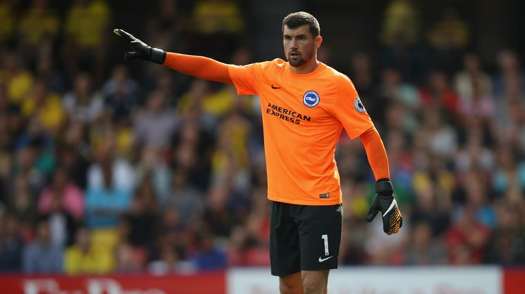 Mat Ryan helped Brighton to their first win in the EPL overnight.