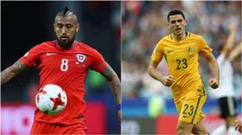 Top 10 stats: Australia v Chile