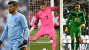 Caltex Socceroos goalkeepers Mat Ryan, Mitch Langerak and Adam Federici.