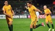 Ange Postecoglou praised the performance of Tomi Juric in Australia's win over Saudi Arabia.