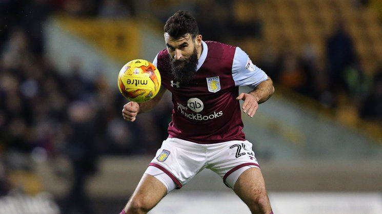 Caltex Socceroos skipper Mile Jedinak has made his first appearance of the season for Aston Villa in the Championship.