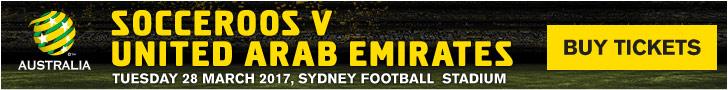 Socceroos v UAE banner