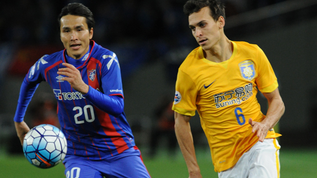 Trent Sainsbury in action for Jiangsu Suning in the Asian Champions League.