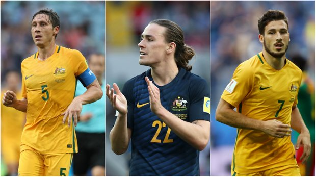 Mark Milligan, Jackson Irvine and Mathew Leckie will all be hoping to survive the cap and be in Ange Postecoglou's final 23-man Caltex Socceroos squad.