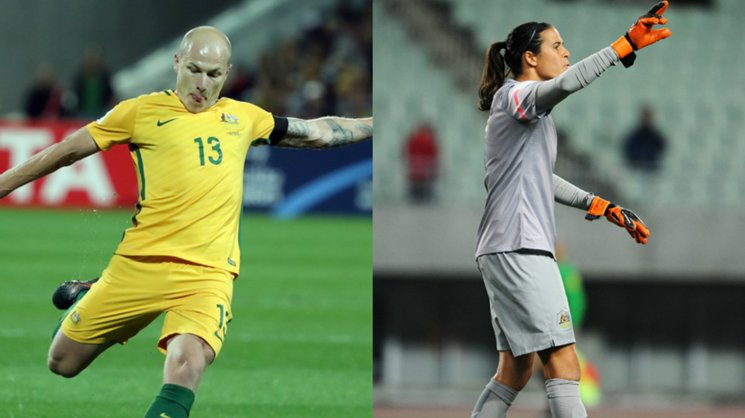 Aaron Mooy and Lydia Williams were honoured at the PFA Awards last night.