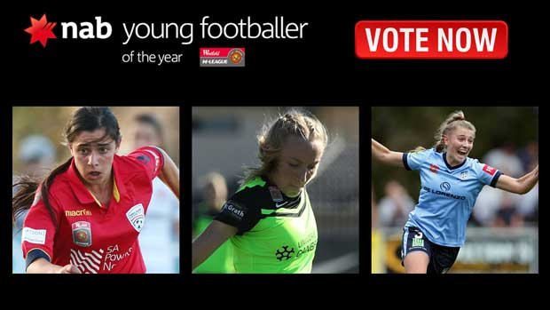 Public voting continues for the NAB Young Footballer of the Year Award in the Westfield W-League.