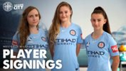 Melbourne City have signed Rhali Dobson, Hayley Richmond and Sofia Sakalis.