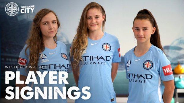 Melbourne City have signed Rhali Dobson, Hayley Richmond and Sofia Sakalis.
