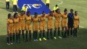 The Mini Matildas starting XI before their game against Hong Kong.