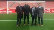 Hyundai A-League officials Alex King, Ben Abraham and Rick Schneider.