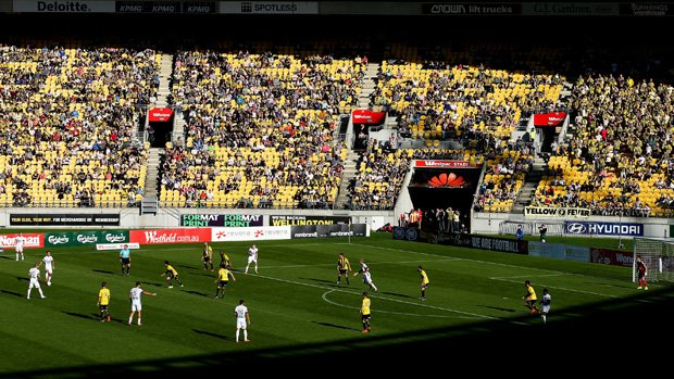 A general view of Westpac Stadium where Wellington Phoenix tackle Perth Glory.