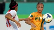 Emma Checker in action for the Westfield Matildas at last year's AFC Women's Asian Cup.