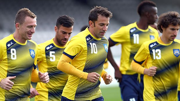 The Foxtel A-League All Stars train in Sydney ahead of their clash with Juventus.