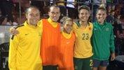 Westfield Matildas Caitlin Foord, Emily van Egmond, Katrina Gorry, Michelle Heyman and Steph Catley.