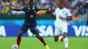 Pogba in action for France against Honduras at the World Cup in Brazil.