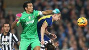 Gianluigi Buffon in action against the Foxtel A-League All Stars.