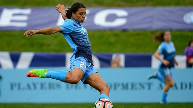 Sam Kerr in action for Sky Blue FC. Image: NWSL