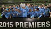 Melbourne City celebrate the 2014/15 Foxtel National Youth League title.