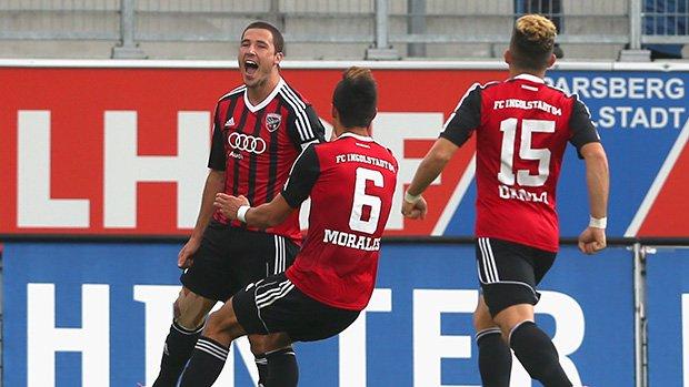 Leckie scored for Ingolstadt 04 against Vfr Aalen in Bundesliga 2.