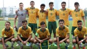 The Joeys XI which started the match against Guam.