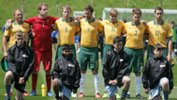 The Pararoos before kick-off in their final match at the 2015 Cerebral Palsy Football World Championships.