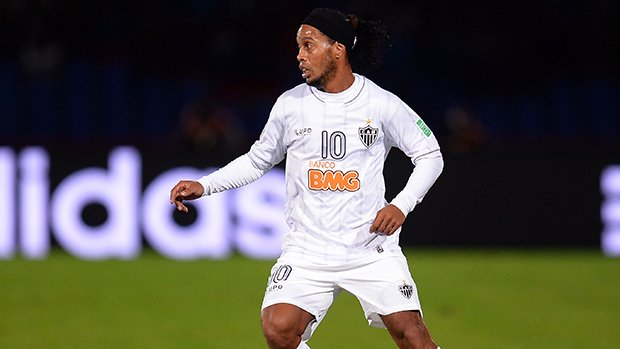 Ronaldinho in action for Brazilian side Atletico Mineiro.
