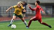 16-year-old Westfield Matildas defender Ellie Carpenter in action against China.