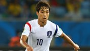 Park Chu-Young in action for Korea at the FIFA World Cup in Brazil.