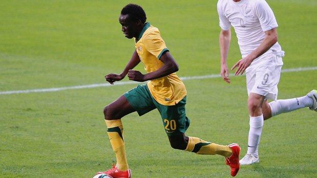 Melbourne Victory and Australian U-23's defender Thomas Deng.