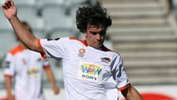 Olympic FC striker Tim Smits in action for Brisbane Roar's youth outfit in 2010.