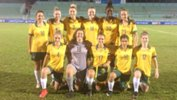 The Young Matildas starting XI against Indonesia.