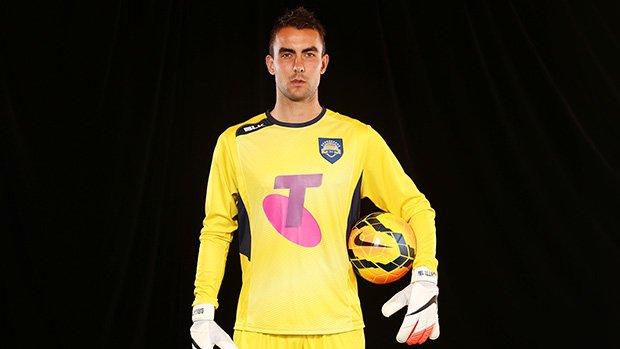 Jets goalkeeper mark Birighitti models the Foxtel A-League All Stars kit.