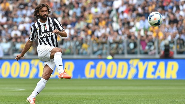 Juventus star Andrea Pirlo in action during last season's Serie A.