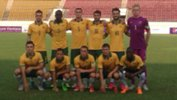The Young Socceroos starting side against the Philippines.