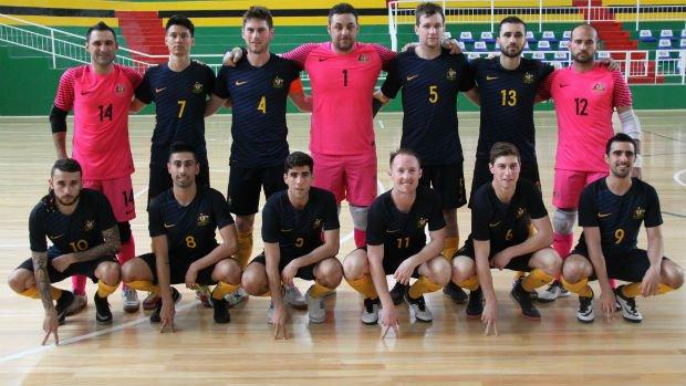 The Futsalroos squad following a friendly against Kazakhstan.