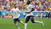 Pogba celebrates after opening the scoring for France against Nigeria at the World Cup in Brazil.