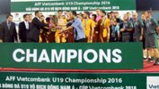 The Young Socceroos celebrate winning the AFF U-19 Championship in Vietnam.