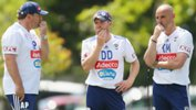 Darren Davies with Kevin Muscat and Ange Postecoglou.
