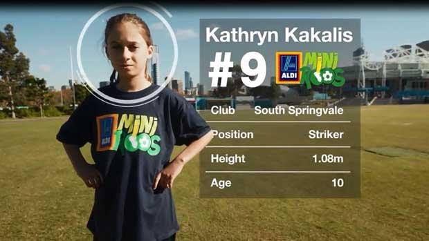ALDI MiniRoo Kathryn Kakalis took on Melbourne Victory's Gulcan Koca in an amazing 'Match That' Challenge.