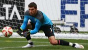 Socceroos goalkeeper Mat Ryan in training during January's Asian Cup.