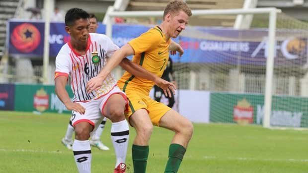 Australia's U-23's came away with a 2-0 win over Brunei Darussalam at the AFC U-23 Championship China 2018 Qualifiers.