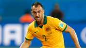 Ivan Franjic in action for the Socceroos at the World Cup against Chile.