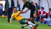 Nicholas Panetta makes a challenge against a Mexican attacker