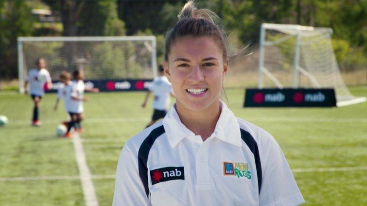 Westfield Matildas star and Aldi Miniroos ambassador Steph Catley.