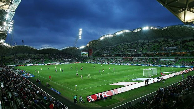 A general view of AAMI Park in Melbourne.