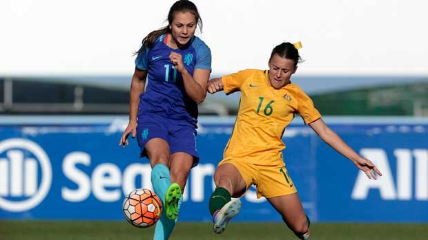 Bragging rights went to Hayley Raso after the first round of the US National Women's Soccer League season.