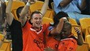 FFA CEO Ben Buckley congratulates Brisbane Roar