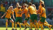 The Westfield Matildas celebrate Katrina Gorry scoring against China PR.
